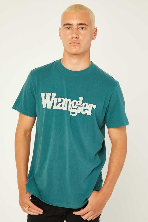 WRANGLER Outlines Tee Washed Teal