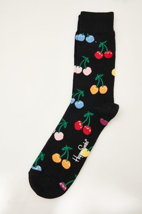 HAPPY SOCKS Cherry Sock Black/Multi