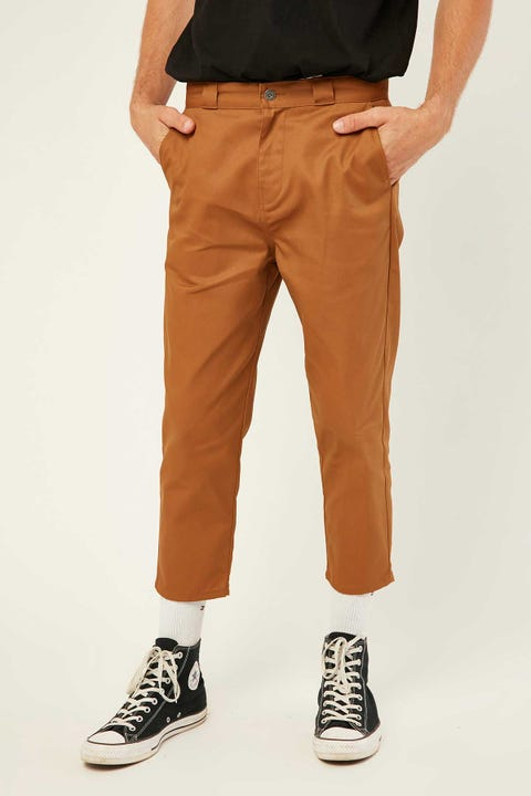 Dickies Cropped Tapered Leg Pant Brown Duck