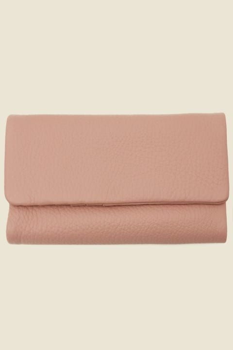 STATUS ANXIETY Audrey Wallet Pebble Dusty Pink Dusty Pink
