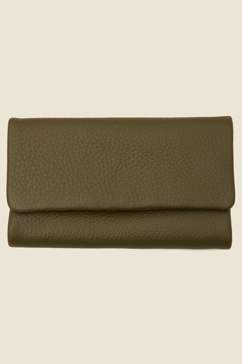 STATUS ANXIETY Audrey Wallet Pebble Khaki Pebble Khaki