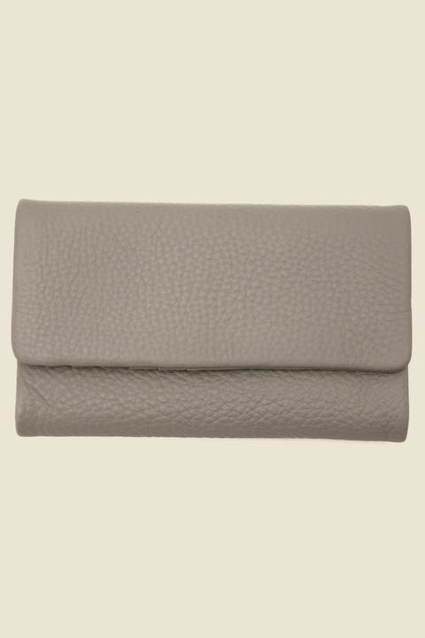 STATUS ANXIETY Audrey Wallet Pebble Light Grey Light Grey