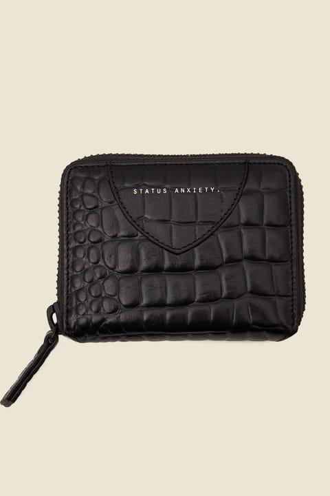 STATUS ANXIETY Wayward Wallet Black Croc Emboss Black Croc Emboss
