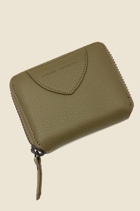 STATUS ANXIETY Wayward Wallet Khaki Khaki Green