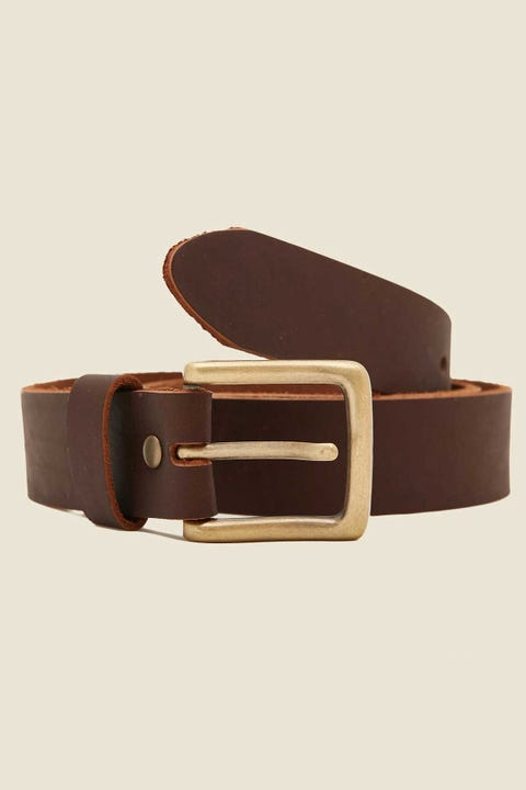 COMMON NEED Basic Slim Belt Cigar/Antique Brass