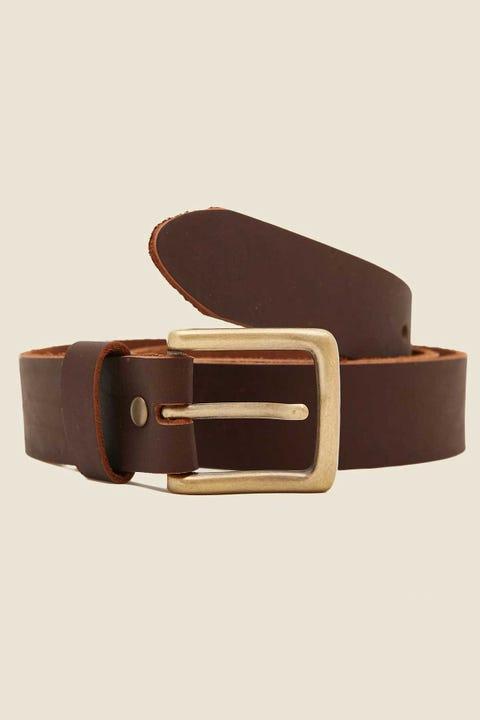 Common Need Basic Slim Belt Cigar/Antique Brass