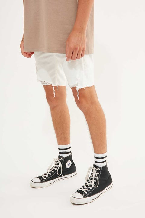 Abrand A Dropped Skinny Short White Heat