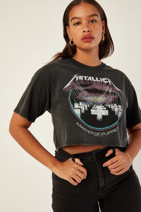 Sunnyville Metallica Puppets Tee Washed Black