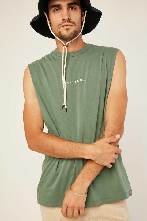 THRILLS Minimal Thrills Merch Fit Muscle Tee Lume Green