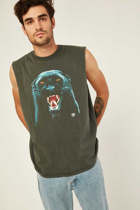 THRILLS Prowler Merch Fit Muscle Tee Merch Black