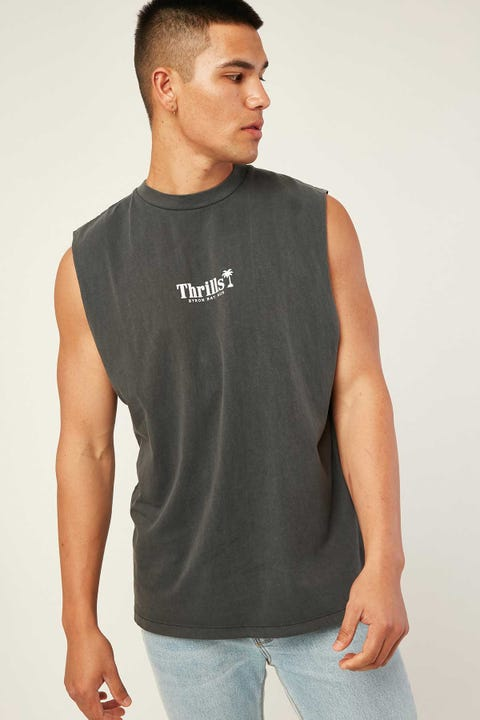 THRILLS Palm Of Thrills Merch Fit Muscle Tee Merch Black