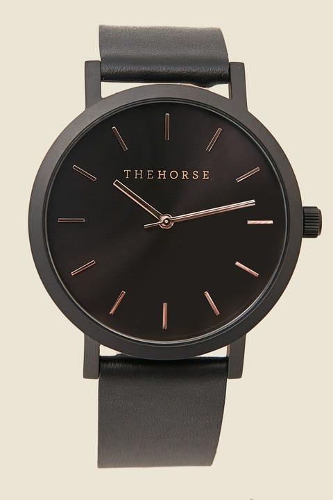 THE HORSE Original Watch Matte Black/Black/Rose Matte Black/Black/Rose Indexing