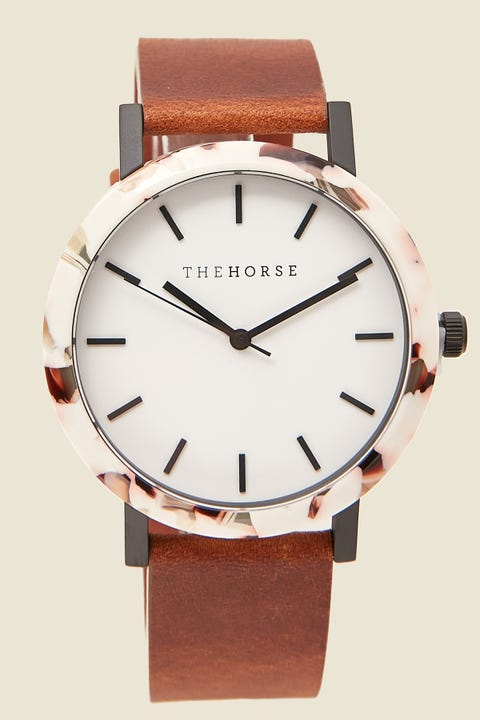 THE HORSE Resin Watch Nougat Shell/White/Tan Nougat Shell/White/Tan