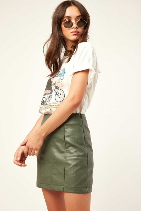 LUCK & TROUBLE Calli Mini Skirt Khaki
