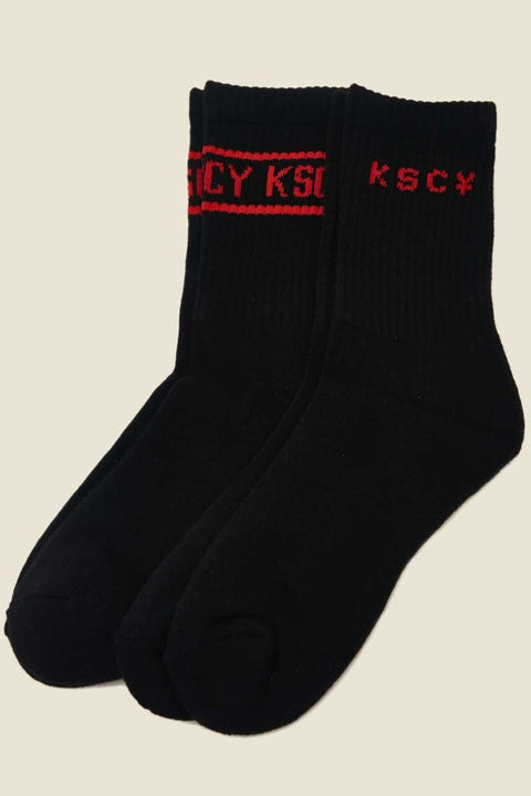 Kiss Chacey Velocity Sock 2 Pack Black