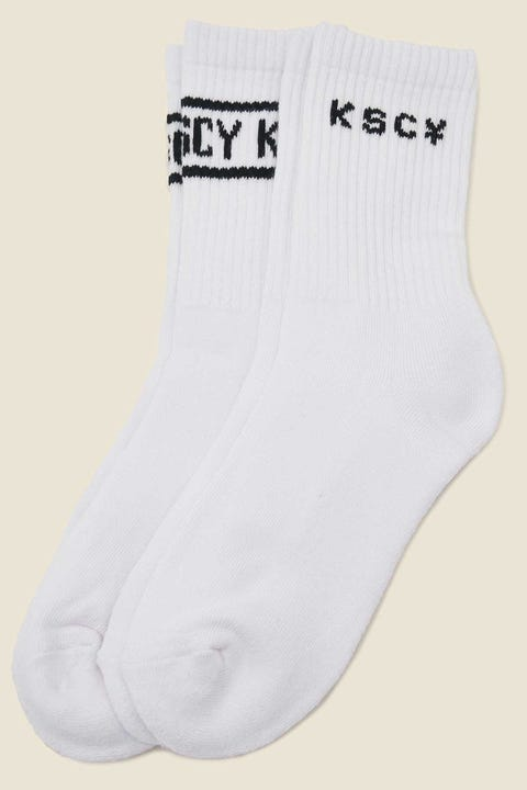 Kiss Chacey Power Sock 2 Pack White