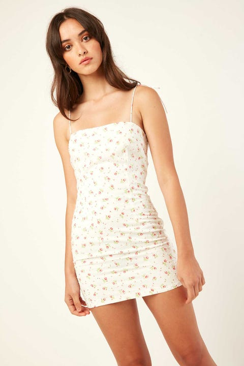 LUCK & TROUBLE Asher mini Dress White Floral