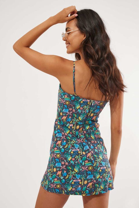 Cools Club A Line Dress Tropic Nights