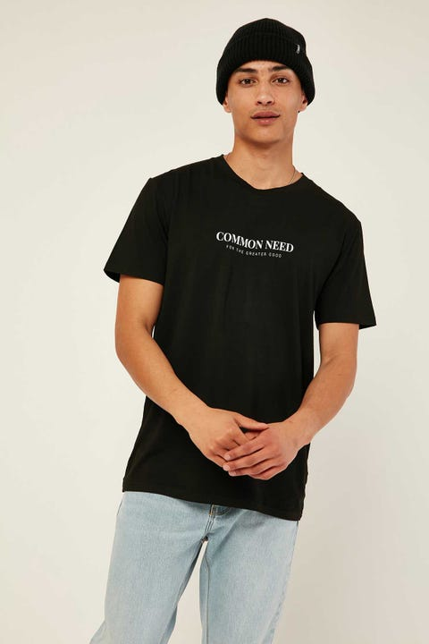 COMMON NEED Incindiary Tee Black