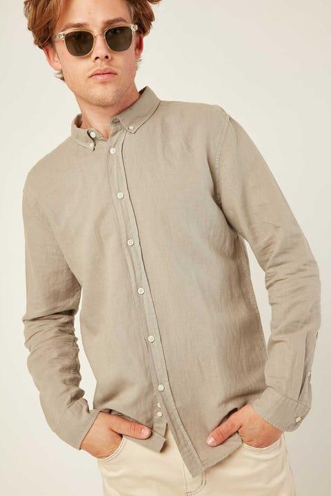 Common Need Pierce Long Sleeve Shirt Grey