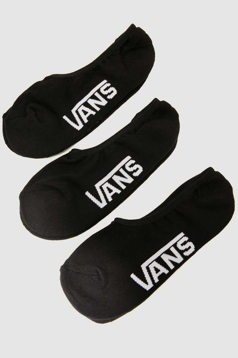 Vans Super No Show Socks 3Pk Black