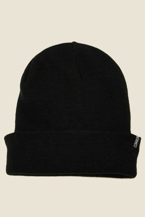 COMMON NEED Tall Beanie Black