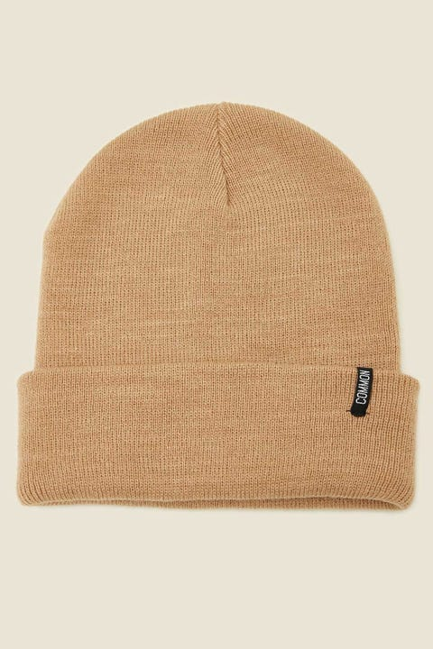 COMMON NEED Tall Beanie Sand