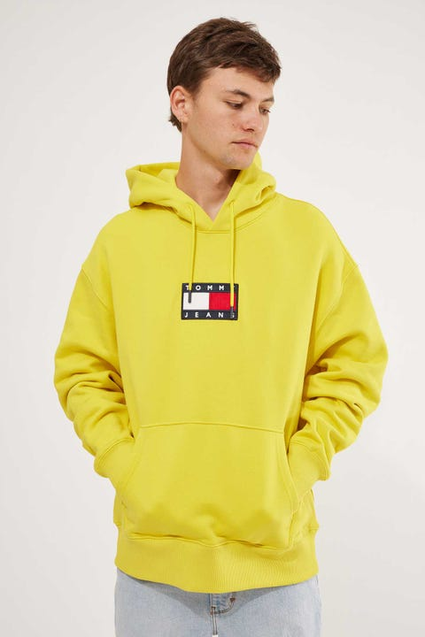 Tommy Jeans Small Flag Hoodie Valley Yellow