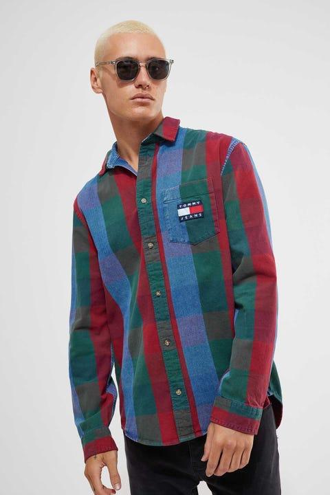 Tommy Jeans Tommy Denim Check Shirt MId Indigo