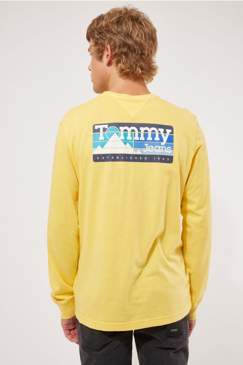 Tommy Jeans Tommy Back Mountain Graphic Yellow