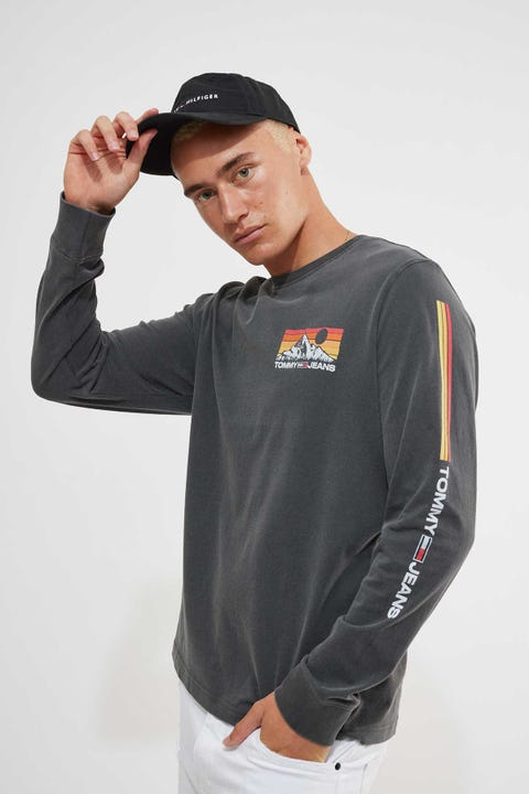 Tommy Jeans Tommy Longsleeve Small Photo Black
