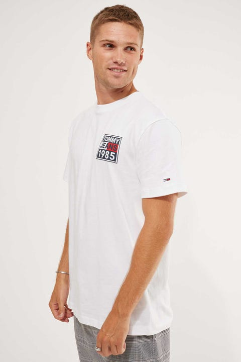 Tommy Jeans Tommy Front & Back Graphic Tee White