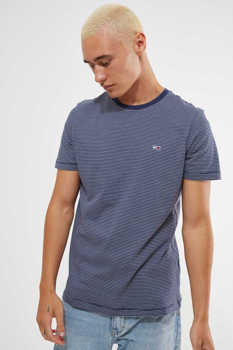 Tommy Jeans Tommy Essential Stripe Tee Navy/White Stripe