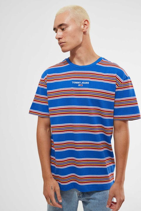 Tommy Jeans Tommy Stripe Layout Tee BLue Multi