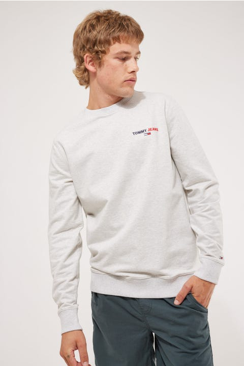 Tommy Jeans Tommy Chest Graphic Crew Silver Grey