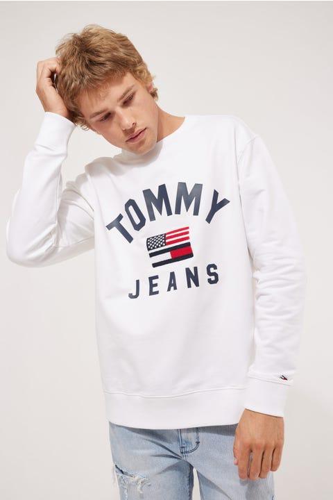 Tommy Jeans Tommy Bold Logo Crew White