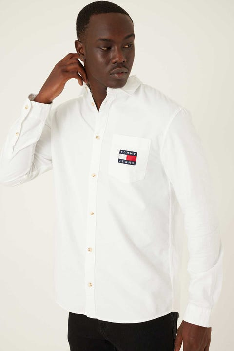 TOMMY JEANS Brushed Oxford Badge Shirt White