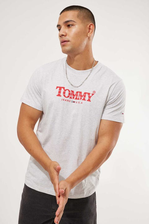 Tommy Jeans Gradient Tommy Tee Silver Grey