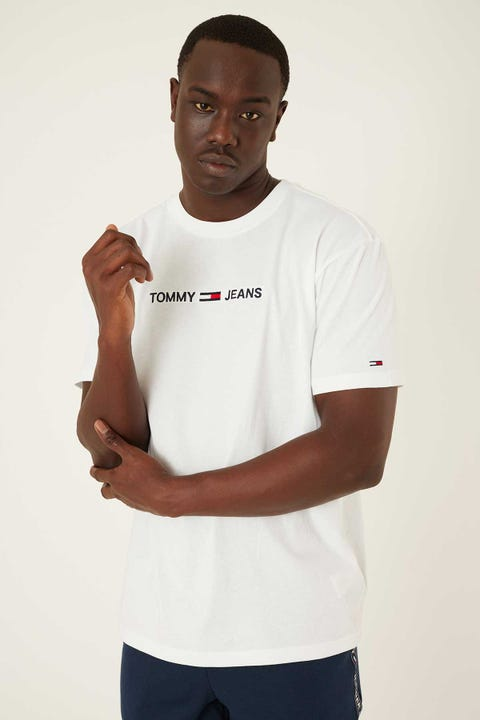 TOMMY JEANS Stright Logo Tee White