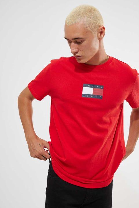 Tommy Jeans Tommy Short Sleeve Badge Tee Deep Crimson