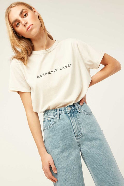 ASSEMBLY Logo Tee Chalk White