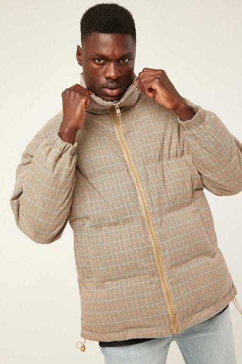 COMMON NEED Antarctica Puffer Jacket Houndstooth Check