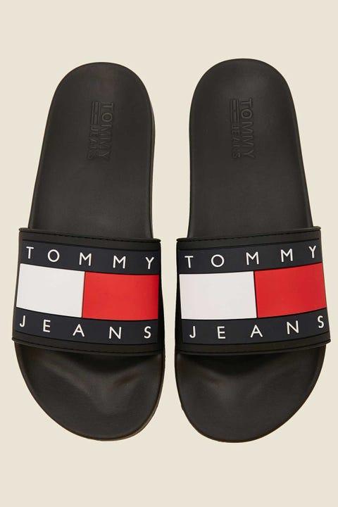 Tommy Jeans Flag Pool Slide Black