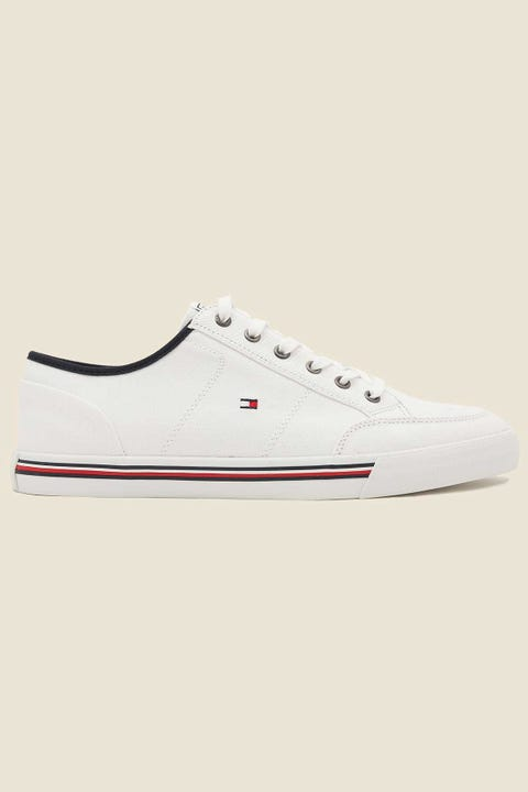 Tommy Jeans Mens Corporate Textile Sneaker White