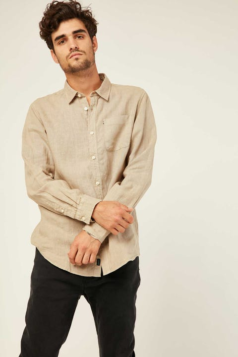 THE ACADEMY BRAND Hampton LS Shirt Pebble