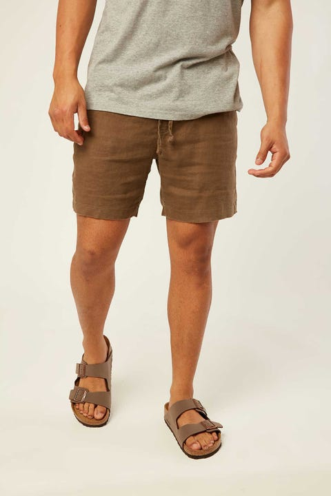 THE ACADEMY BRAND Riviera Linen Short Olive