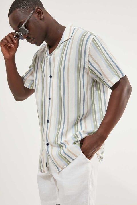 THE ACADEMY BRAND Lou SS Shirt Multi Stripe