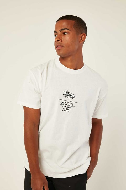 STUSSY City Stack SS Tee White