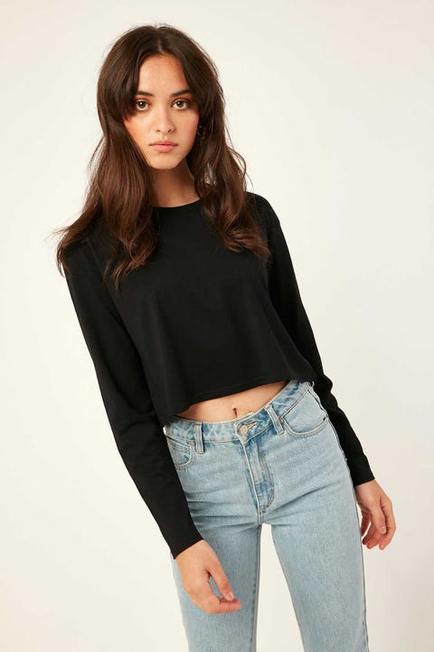 AS Colour Crop Longsleeve Tee Black