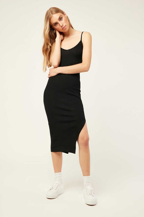 PERFECT STRANGER Chicago Midi Dress Black